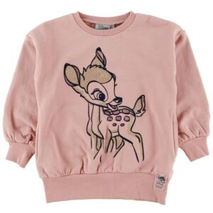 Wheat Disney Sweatshirt - Bambi - Misty Rose